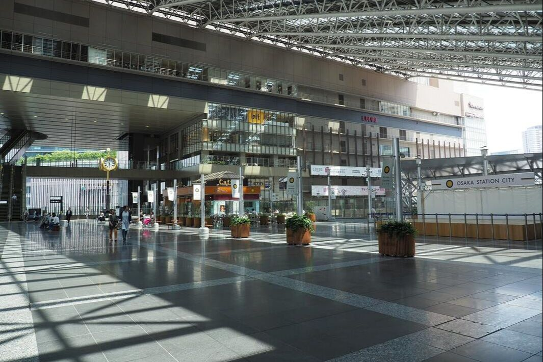 Interiors of Osaka train station