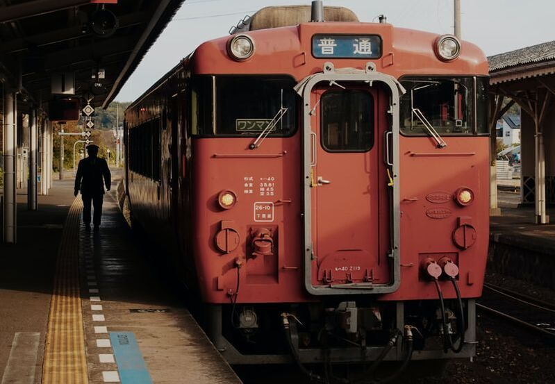 A local train in Japan