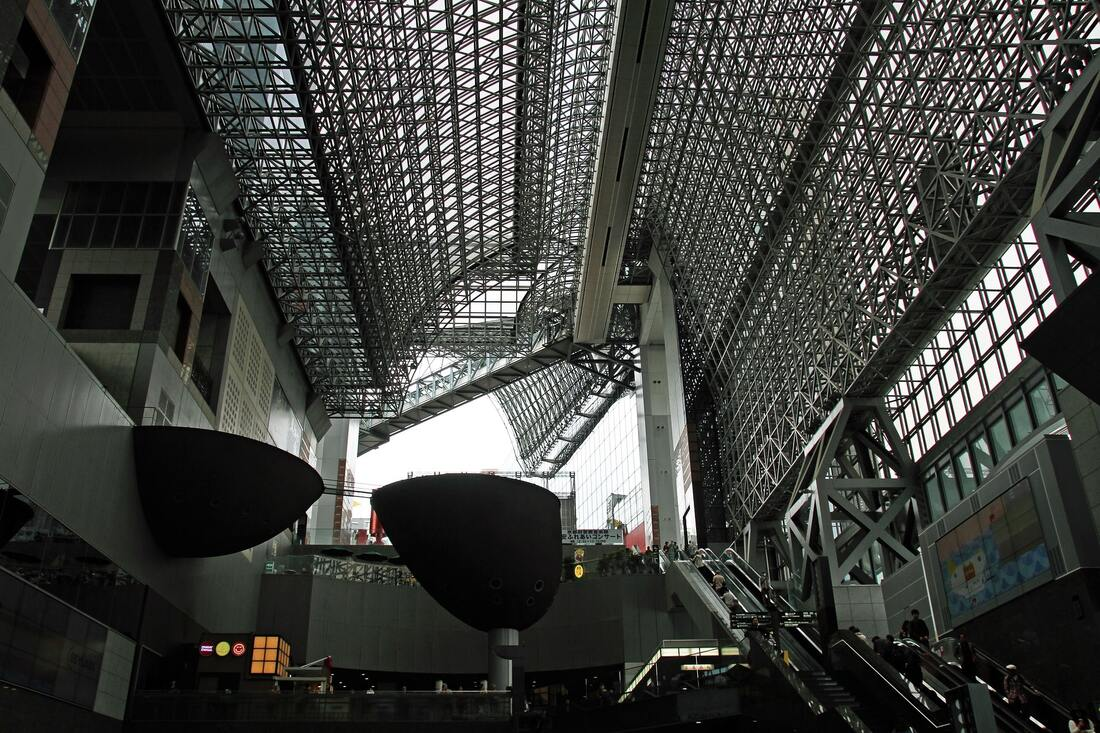 Inside the Kyoto Station